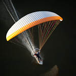 Powered paragliding surf