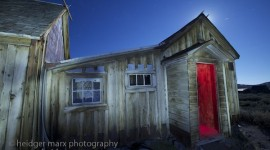 The Dolan House at Bodie Ghost Town at night