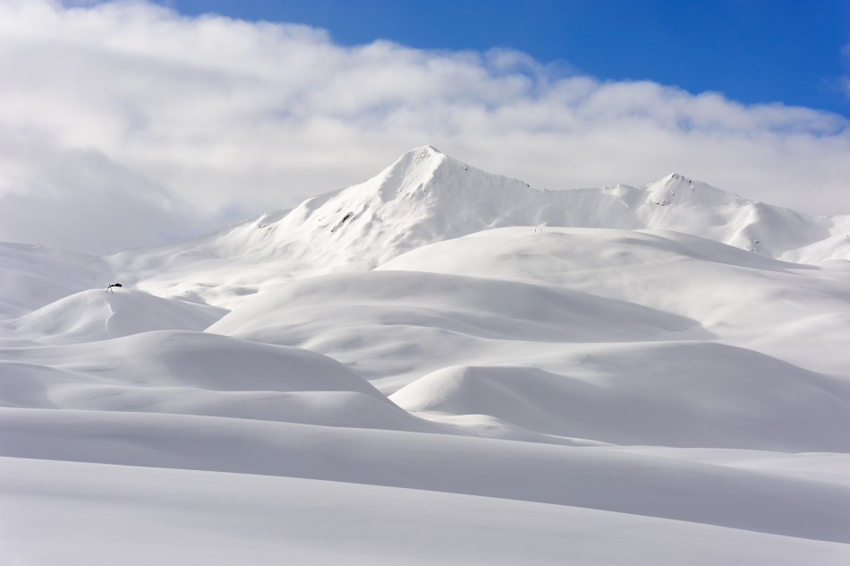 Flawless White Winter Swiss Landscape