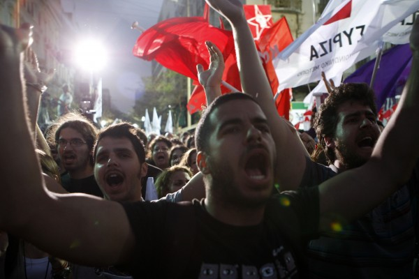 Greece Elections 2012 - Tsipras Campaigns in Athens