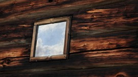 Window in a blockhouse