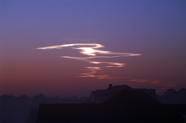 Shuttle Contrail at sunset