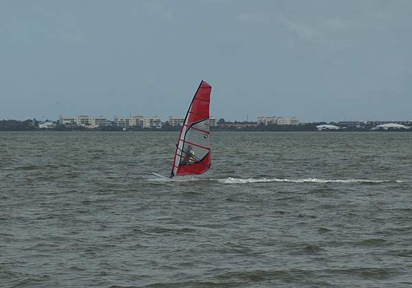 Wind Surfing on the Banana River