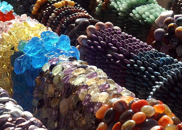 hanks of assorted beads