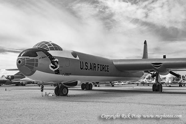 airplane, plane, bomber, b-36, peacemaker, convair, propeller, j