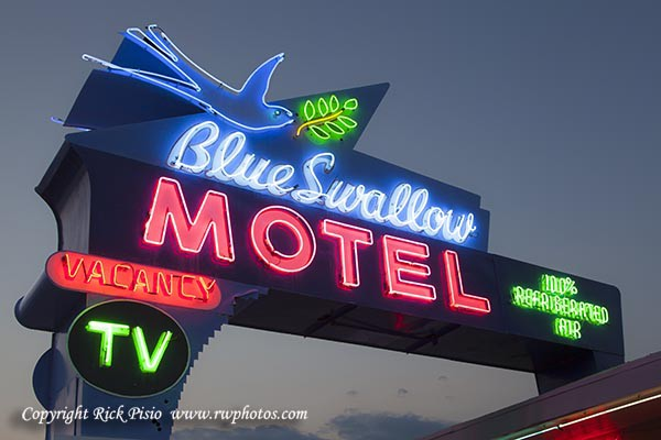 neon of the blue swallow motel on route 66 photographers selection neon of the blue swallow motel on route 66 photographers selection